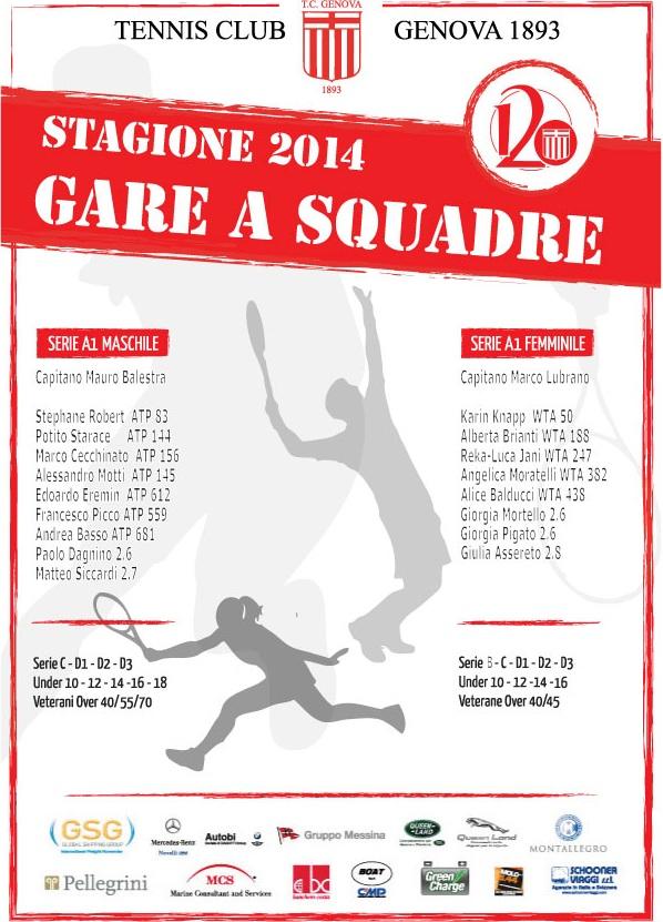 presentazione squadre tennis club genova 2014