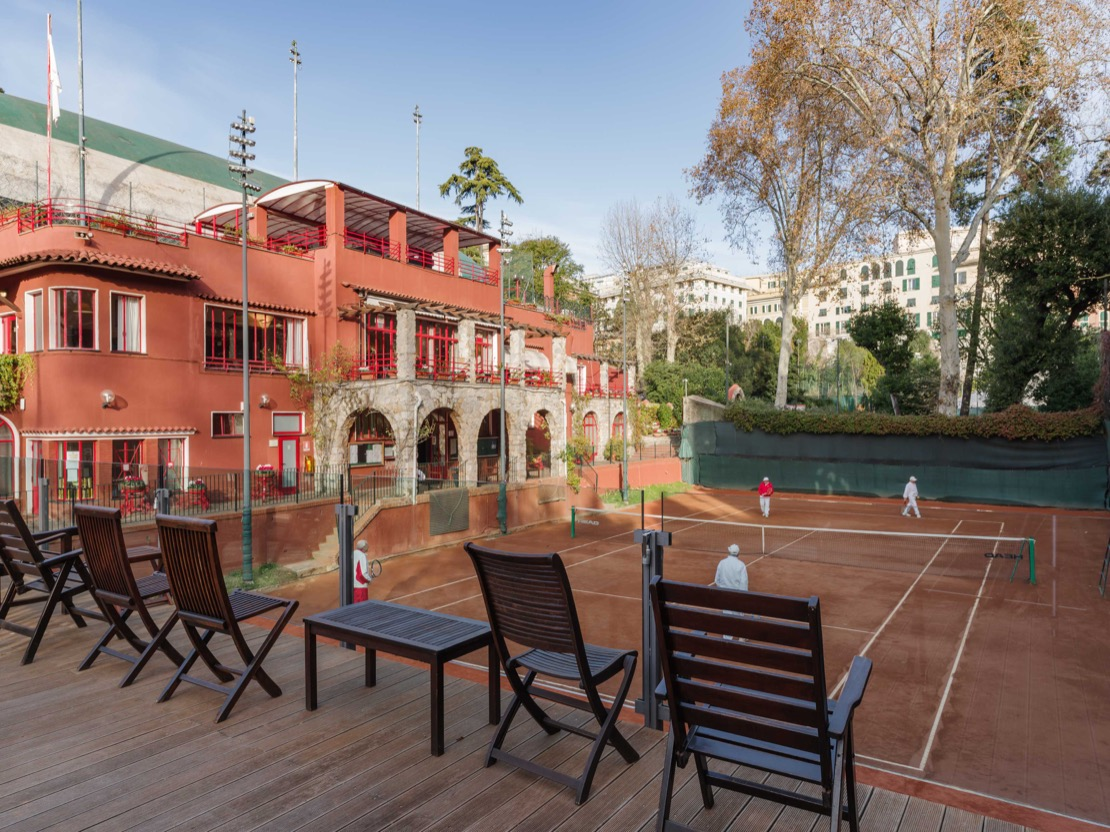 <Campo in terra rossa Tennis Club Genova