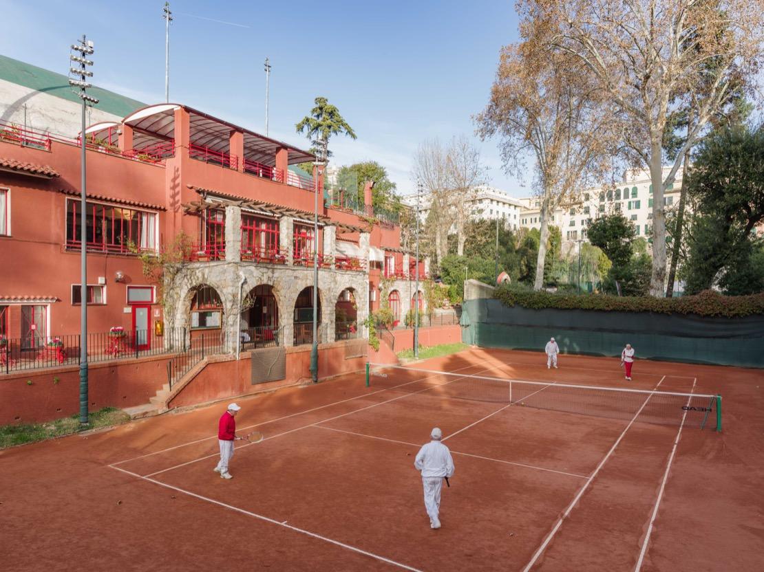 <Campo da Gioco tennis Club Genova