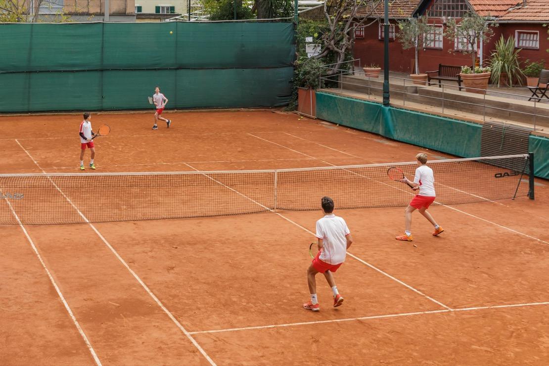 <Campo da tennis in terra rossa Tennis Club Genova